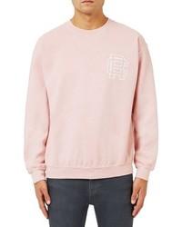 Jersey con cuello circular estampado rosado de Topman