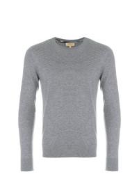 Jersey con cuello circular gris de Burberry