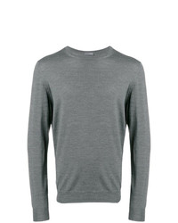 Jersey con cuello circular gris de Drumohr