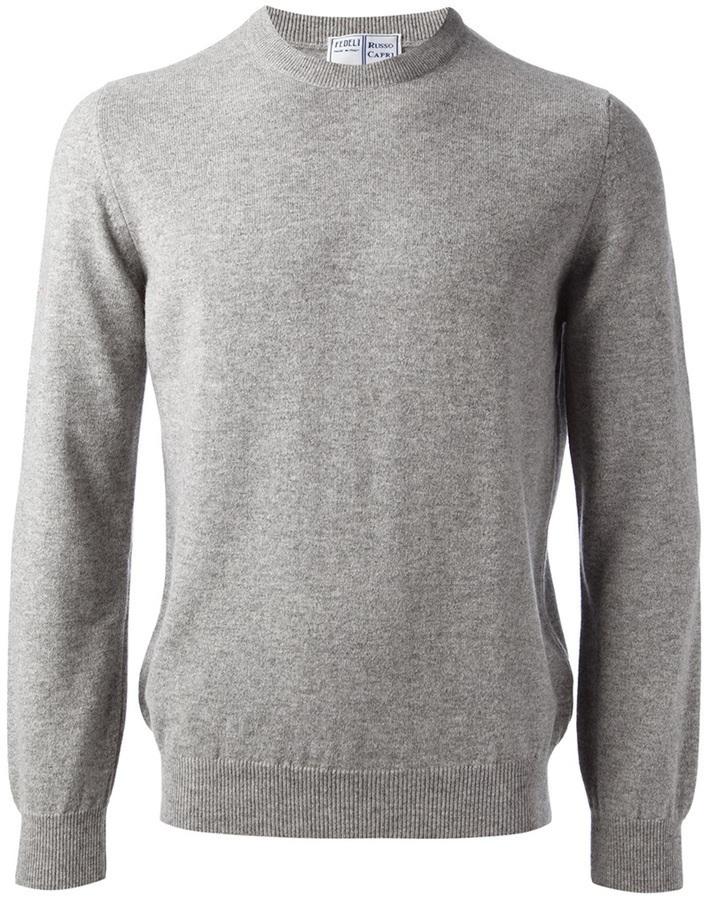Jersey con cuello circular gris de Fedeli