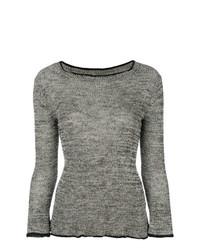 Jersey con cuello circular gris de Isabel Marant Etoile