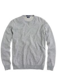 Jersey con cuello circular gris de J.Crew