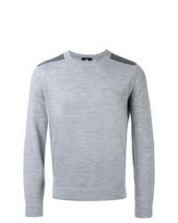 Jersey con cuello circular gris de Kent & Curwen