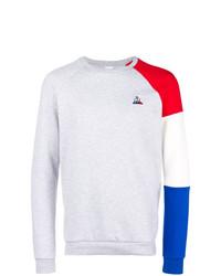 Jersey con cuello circular gris de Le Coq Sportif
