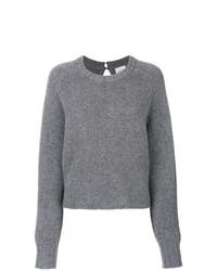 Jersey con cuello circular gris de Le Kasha