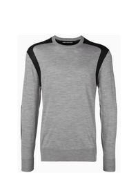 Jersey con cuello circular gris de Neil Barrett