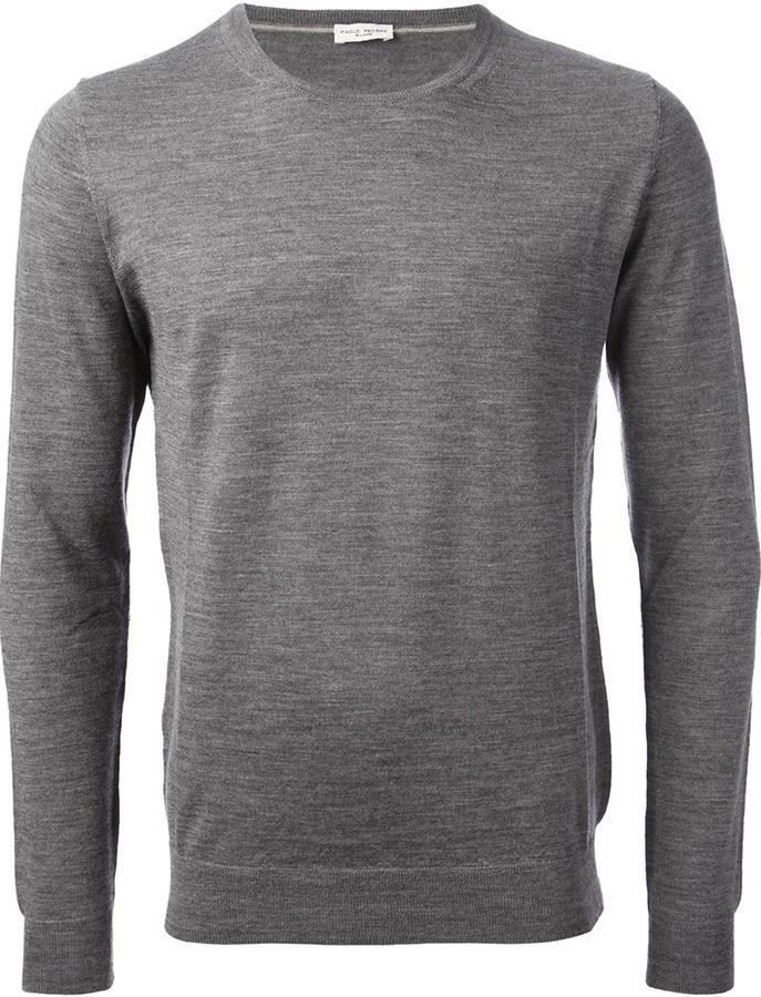 Jersey con cuello circular gris de Paolo Pecora