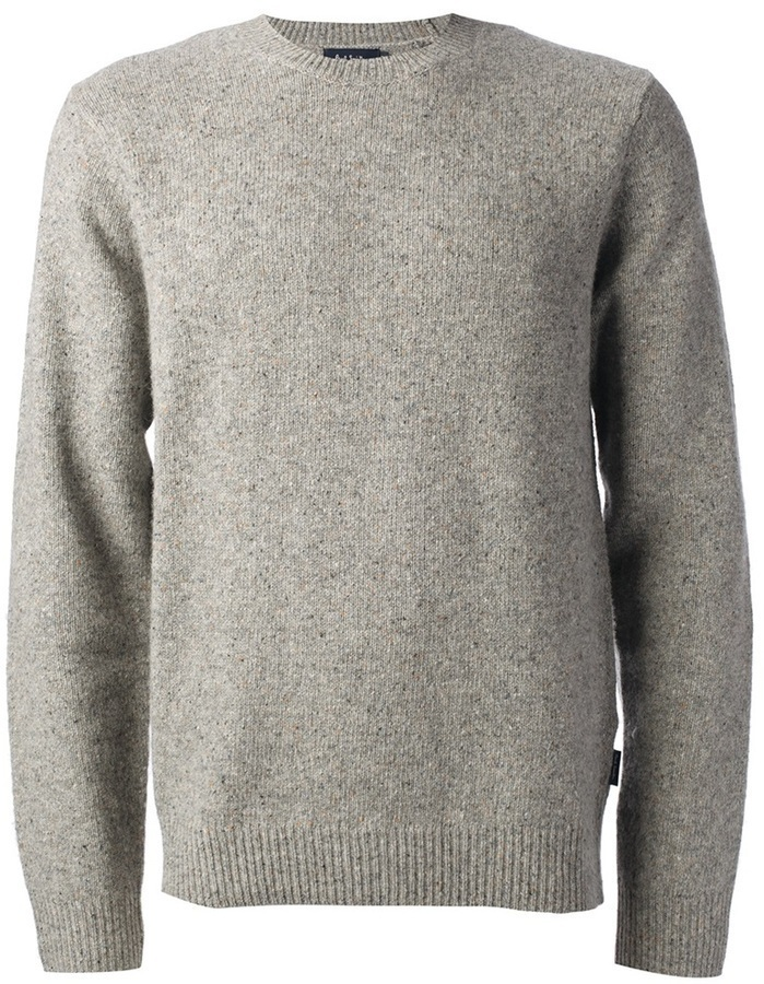 Jersey con cuello circular gris de Paul Smith