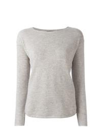 Jersey con cuello circular gris de Polo Ralph Lauren