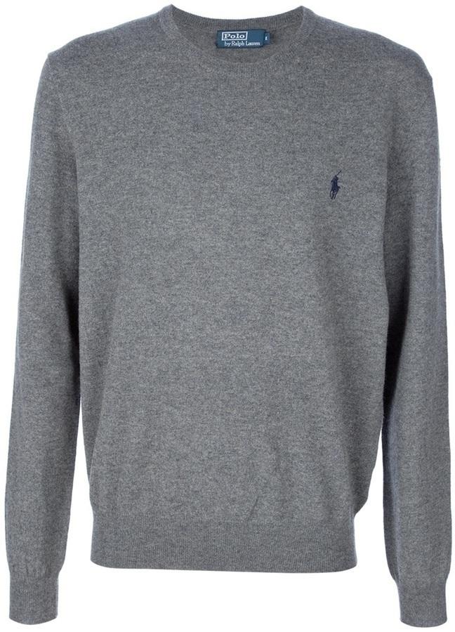 Jersey con cuello circular gris de Ralph Lauren Blue Label
