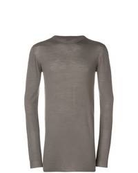 Jersey con cuello circular gris de Rick Owens