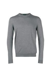 Jersey con cuello circular gris de Zanone