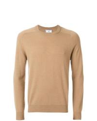 Jersey con cuello circular marrón claro de AMI Alexandre Mattiussi