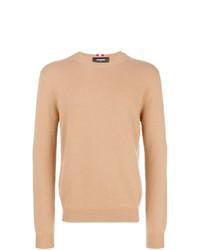 Jersey con cuello circular marrón claro de DSQUARED2