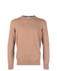 Jersey con cuello circular marrón claro de Eleventy