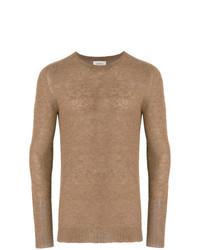 Jersey con cuello circular marrón claro de Laneus