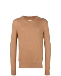 Jersey con cuello circular marrón claro de Maison Margiela