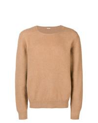 Jersey con cuello circular marrón claro de Massimo Alba