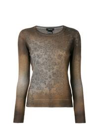 Jersey con cuello circular marrón de Avant Toi