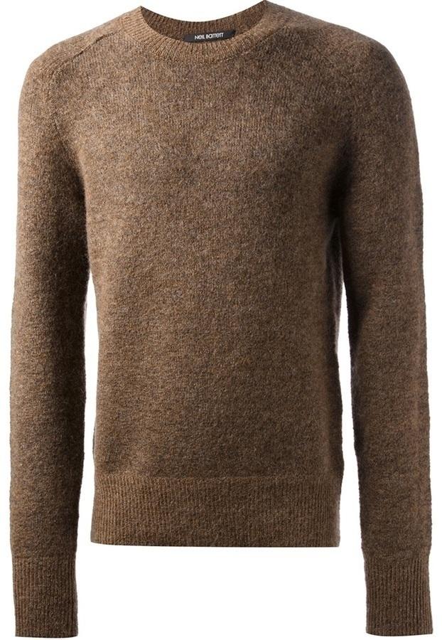 Jersey con cuello circular marrón de Neil Barrett