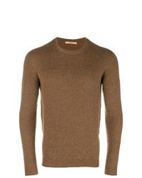 Jersey con cuello circular marrón de Nuur
