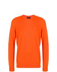 Jersey con cuello circular naranja de Emporio Armani