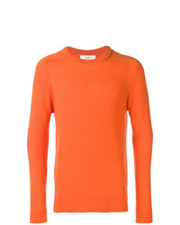 Jersey con cuello circular naranja de Pringle Of Scotland