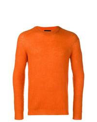 Jersey con cuello circular naranja de Roberto Collina