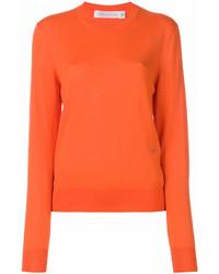 Jersey con cuello circular naranja de Victoria Beckham