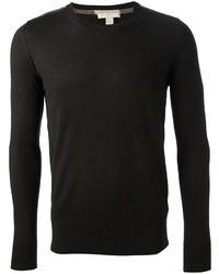 Jersey con cuello circular negro