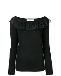 Jersey con cuello circular negro de Blumarine
