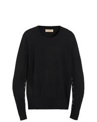 Jersey con cuello circular negro de Burberry