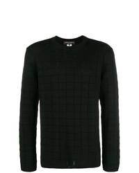 Jersey con cuello circular negro de Comme Des Garcons Homme Plus