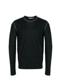 Jersey con cuello circular negro de Helmut Lang
