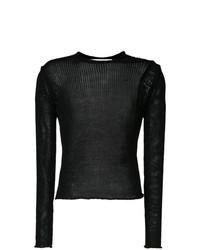 Jersey con cuello circular negro de Isabel Benenato