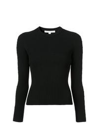 Jersey con cuello circular negro de JONATHAN SIMKHAI