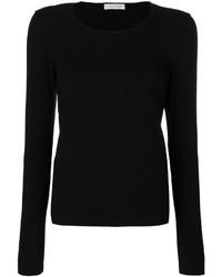 Jersey con cuello circular negro de Le Tricot Perugia