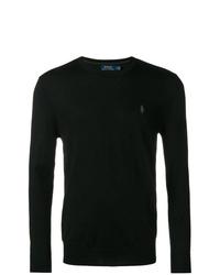 Jersey con cuello circular negro de Polo Ralph Lauren