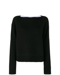 Jersey con cuello circular negro de Proenza Schouler
