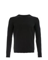 Jersey con cuello circular negro de Roberto Collina