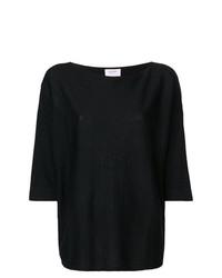 Jersey con cuello circular negro de Snobby Sheep