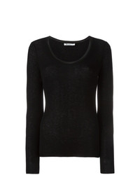 Jersey con cuello circular negro de T by Alexander Wang