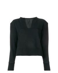 Jersey con cuello circular negro de Unravel Project