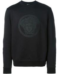Jersey con cuello circular negro de Versace