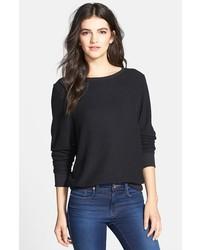 Jersey con cuello circular negro de Wildfox Couture