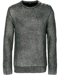 Jersey con cuello circular plateado de Balmain