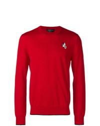 Jersey con cuello circular rojo de Alexander McQueen