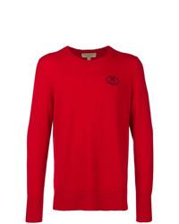 Jersey con cuello circular rojo de Burberry