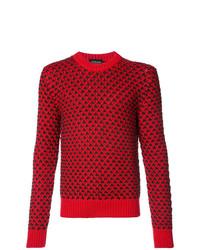 Jersey con cuello circular rojo de Calvin Klein 205W39nyc