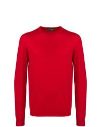 Jersey con cuello circular rojo de Drumohr